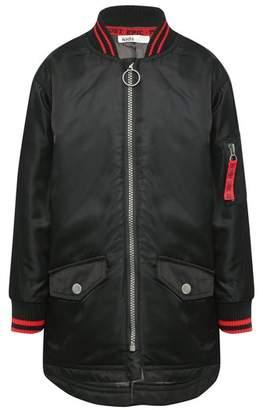 M&Co Longline bomber jacket
