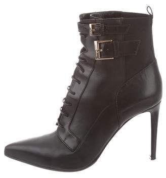 Sergio Rossi Leather Point-Toe Boots