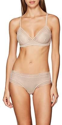 Eres Women's Stripes Jazzy Lace Bra - Beige, Tan