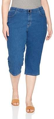 Lee Indigo Women's Plus Size Comfort Collection Denim Capri