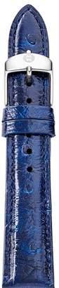 Michele Midnight Blue Ostrich Leather Watch Strap, 18mm