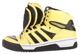 Jeremy Scott x Adidas Metro Altitude 3 Tongue Sneakers