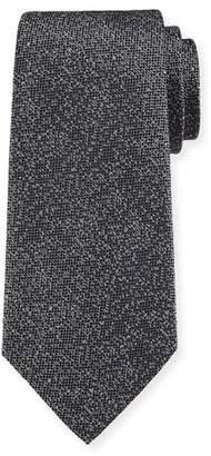Emporio Armani Tonal Dot Silk Tie