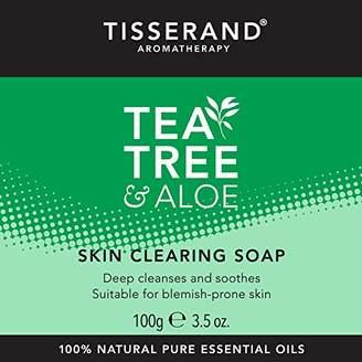Tisserand Aromatherapy U.K. Tea Tree and Aloe Skin Clearing Soap, 100 g