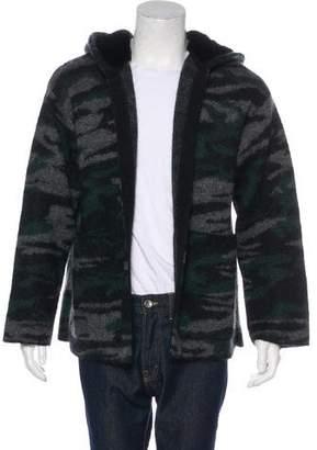 Saint Laurent 2016 Fur-Lined Mohair Sweater