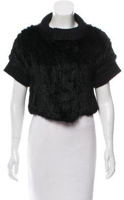 La Perla Fur Knit-Trimmed Cardigan $245 thestylecure.com