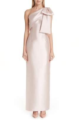 Sachin + Babi One-Shoulder Column Gown