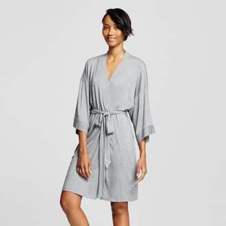 Gilligan & O Women's Pajama Total Comfort Kimono Wrap Robe Medium Heather Gray - Gilligan & O'Malley $24.99 thestylecure.com