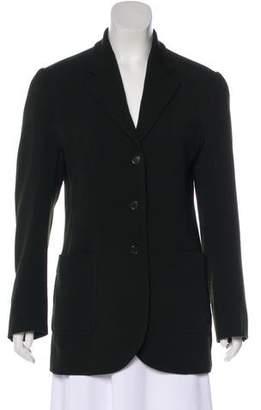 Prada Wool Notch-Lapel Blazer