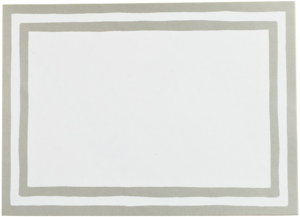 Container Store Stripe Bordered Labels Silver Pkg/12