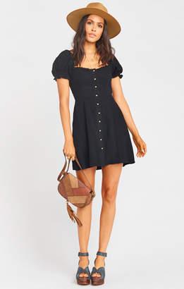Show Me Your Mumu Napoli Dress ~ Black Linen