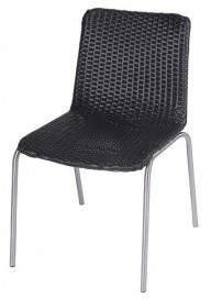 Roger Vivier R&V Living Olivia Dining Chair in Black with Round Straight Leg