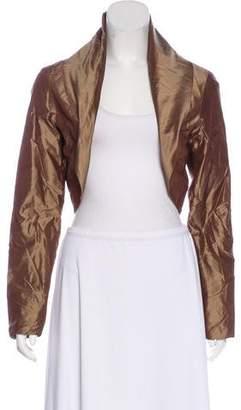 Maria Pinto Metallic Cropped Jacket