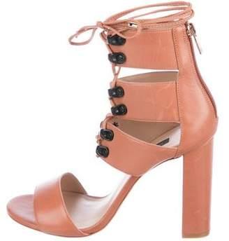 Ruthie Davis Leather Lace-Up Sandals