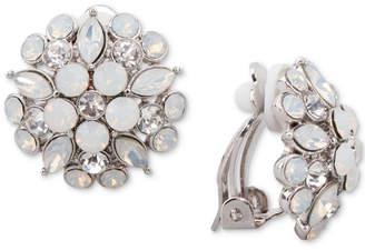 Nina Gold-Tone Multi-Stone Flower Clip-On Stud Earrings