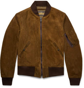 7d6ac204648a at Mr Porter · Schott MA-1 Suede Bomber Jacket - Brown