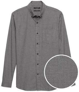 Banana Republic NEW Slim-Fit Luxe Flannel Houndstooth Shirt