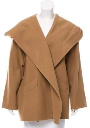 Closed Hooded Wool Coat
