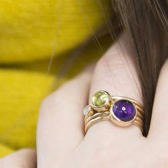 59699d02792bae Alison Moore Designs Solid Gold Amethyst And Peridot Stacking Rings