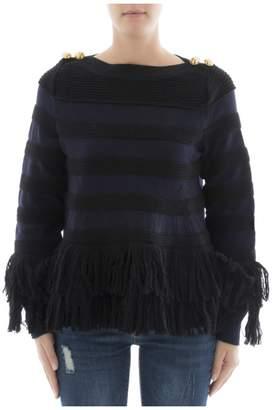 Sacai (サカイ) - Black Wool Sweatshirt