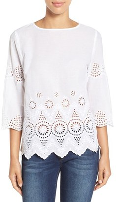 Women's Tommy Bahama Cotton Eyelet Top $128 thestylecure.com