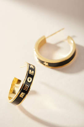 Anthropologie Amore Hoop Earrings