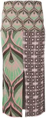 Circus Hotel lurex pencil skirt