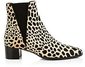 Giuseppe Zanotti Women's Animal Print Calf Hair Chelsea Boots