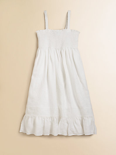 Ralph Lauren Girl's Smocked Linen Dress