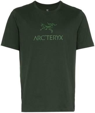 Arc'teryx Green logo printed crew neck cotton t-shirt
