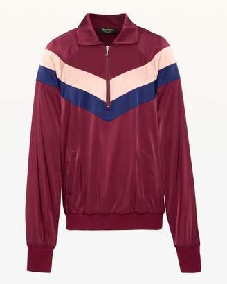 Juicy Couture Colorblock Satin Half Zip Pullover