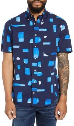 Gitman Trim Fit Geo Print Sport Shirt