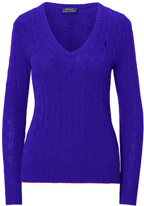 Polo Ralph Lauren Cable Wool-Cashmere Sweater $98.50 thestylecure.com