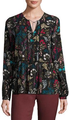 T Tahari Floral-Print Chiffon Blouse $79 thestylecure.com