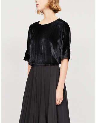 J Brand Fashion Ladies Black Daisy Velvet Top