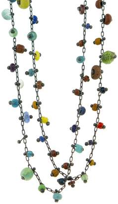 Ten Thousand Things Unique Multi-Colored Ancient Beaded Necklace