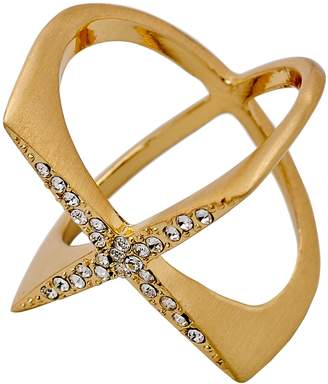 Pilgrim Gold Plated Crystal Cris-Crossing Ring