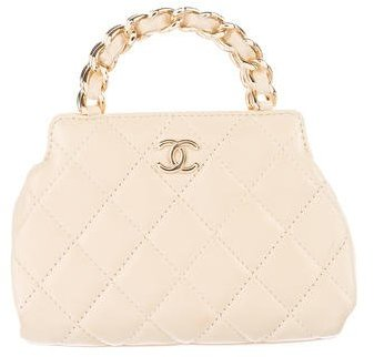 Chanel Quilted Leather Handle Bag