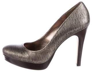 Calvin Klein Collection Embossed Platform Pumps