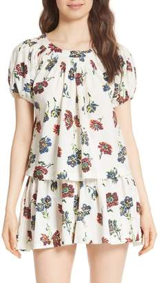 Ulla Johnson Celie Floral Print Blouse