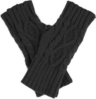 Dahlia Women's Fingerless Arm Warmer Gloves - Aran
