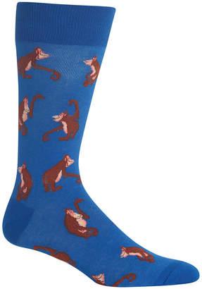 Hot Sox Men's Orangutans Crew Socks