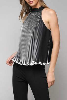 Do & Be Striped Pleated Halter