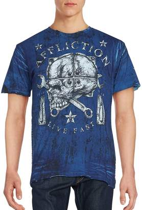 Affliction Men's Cotton Printed Tee