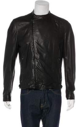 Bottega Veneta Leather Velvet-Trimmed Jacket