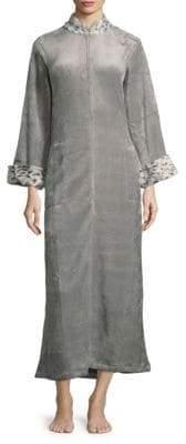 Natori Faux Fur Flannel Lounger