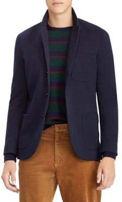 Polo Ralph Lauren Double-Breasted Knit Tech Blazer