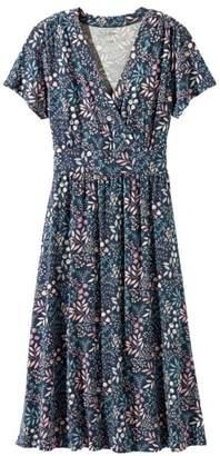 L.L. Bean L.L.Bean Summer Knit Dress, Short-Sleeve Floral