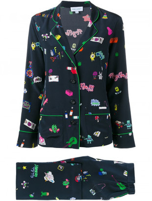 Mira Mikati printed suit $1,140 thestylecure.com