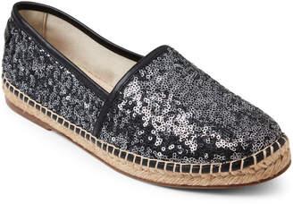 Dolce & Gabbana Striped Sequin Slip-On Espadrilles